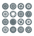 Set of icons bicycle chainring vector image