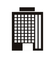 silhouette monochrome with office building vector image vector image