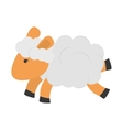 single sheep icon vector image