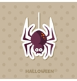 Spider icon Halloween sticker vector image vector image