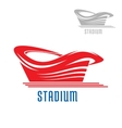 Sport game stadium or arena building vector image vector image