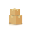 Stacking box isolated on white background vector image vector image