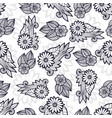 stylish flowers pattern coloring page decoration vector image vector image