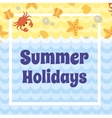 Summer Holidays card vector image vector image