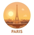 Travel destination Paris icon vector image