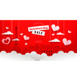 valentines day sale paper cut paris city template vector image vector image