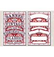 Vintage Hand Drawn Graphic Banners and Labels vector image vector image