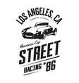 vintage roadster car logo vector image