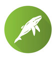 whale green flat design long shadow glyph icon vector image vector image