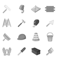 Working tools icons set black monochrome style vector image vector image