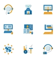 Flat simple icons for education online vector image
