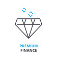 premium finance concept outline icon linear vector image