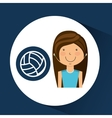 athlete girl volleyball sport style vector image