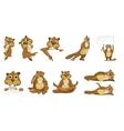set of cute beavers vector image