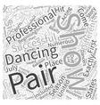 Dancing with the Stars from the Beginning Word vector image