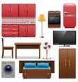 Furniture Icons vector image