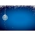 Glitter christmas card vector image
