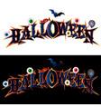 happy halloween text banner vector image