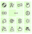 14 save icons vector image vector image