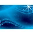 abstract blue music background with star vector image vector image