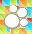 Abstract circle bubble colorful square background vector image