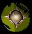 abstract green button vector image