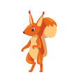 amusing squirrel funny little rodent animal vector image vector image