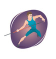 an athlete throwing a javelin vector image vector image