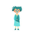 angry funny clown standing halloween cartoon vector image vector image