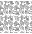 autumn seamless leaf pattern vector image