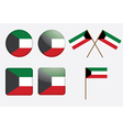 Badges with flag of kuwait vector | Price: 1 Credit (USD $1)