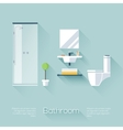 Bathroom Cover vector image