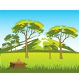 Beautiful wild landscape vector image vector image