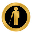 blind disabled button vector image vector image