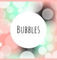 bubbles bokeh elegance logo template vector image vector image