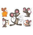 cartoon character mouse and cheese vector image vector image