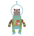 cat in a space suit vector image