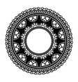 circular openwork frame lace element isolated on vector image vector image