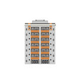 city multistorey house front view with balconies vector image