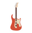 classic rock guitar icon cartoon style vector image vector image