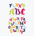 colorful alphabet in vintage style vector image vector image