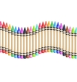 colorful background with fence from wax vector image