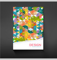 cover colorful triangle geometry background vector image