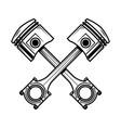 crossed motorcycle pistons design element vector image vector image