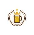 crown beer logo icon design vector image