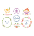 Decorative set vector image