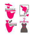 different boutique emblems vector image vector image