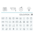 Education and learning icons vector image vector image