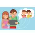 Family flat style social media vector image