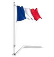 Flag Pole France vector image vector image